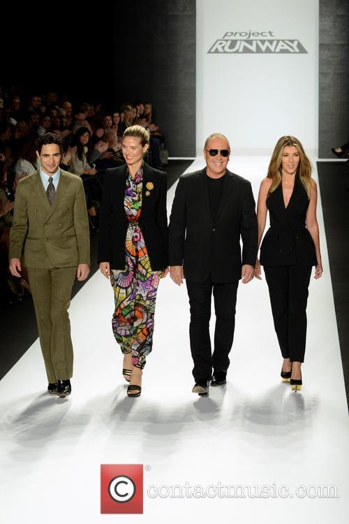 Zac Posen, Heidi Klum, Michael Kors and Nina Garcia 8