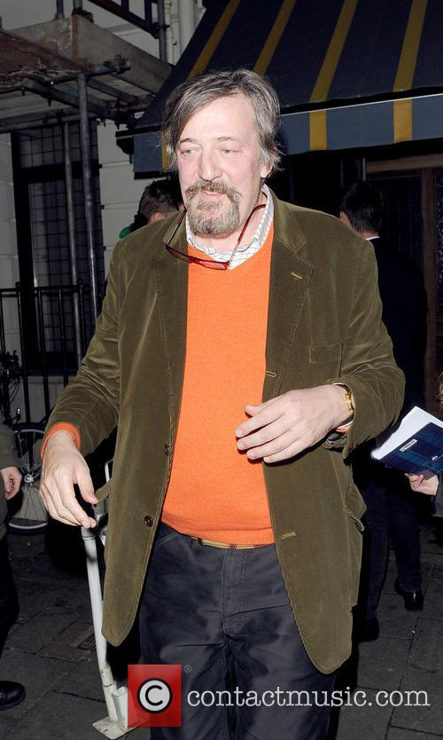 stephen fry celebs attend the pre silver lining 3490830
