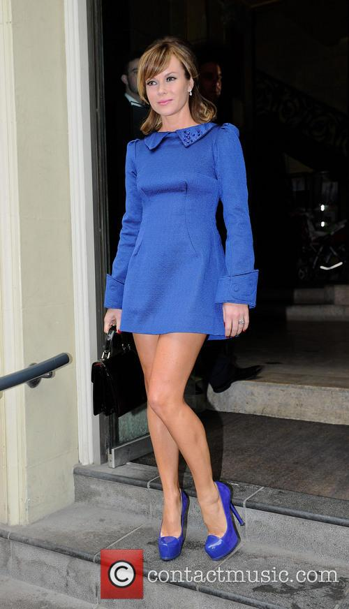 Amanda Holden leaving her hotel ahead of 'Britain's...
