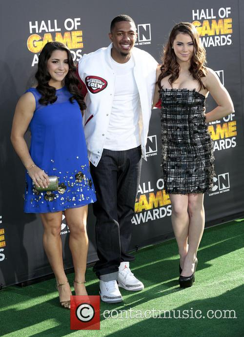 Aly Raisman, Nick Cannon and And Mckayla Maroney 2