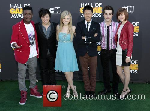 Cartoon Network, (L-R) Actors Shameik Moore, Tristan Pasterick, Shauna Case, Brandon Soo Hoo, Jeremy Shada, Chanelle Peloso
