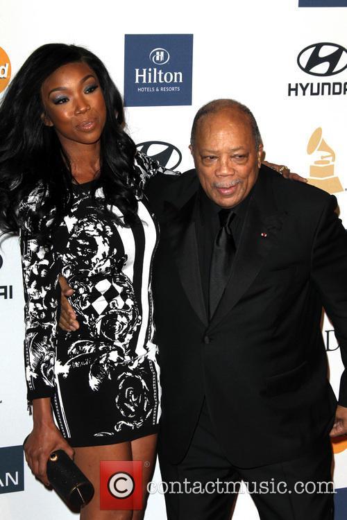 Brandy Norwood and Quincy Jones