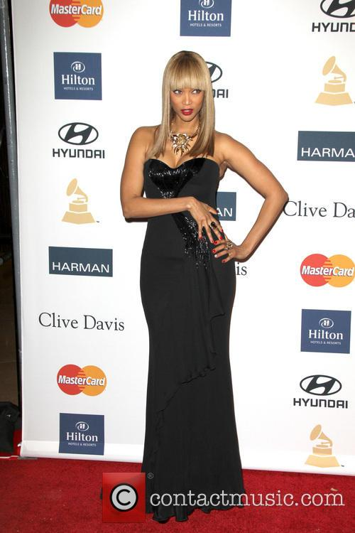 Tyra Banks, Beverly Hilton Hotel, Grammy