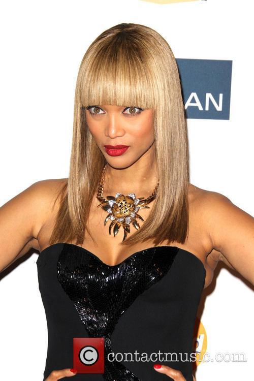 Tyra Banks, Beverly Hilton Hotel, Grammy