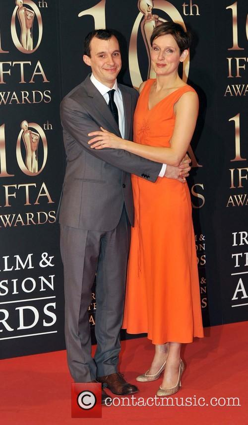 tom vaughan lawlor wife claire cox the ifta awards 3493328