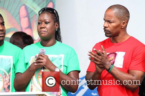 Jamie Foxx and Sybrina Fulton 4