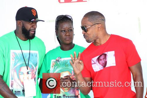 Jamie Foxx, Sybrina Fulton and Tracy Martin 2