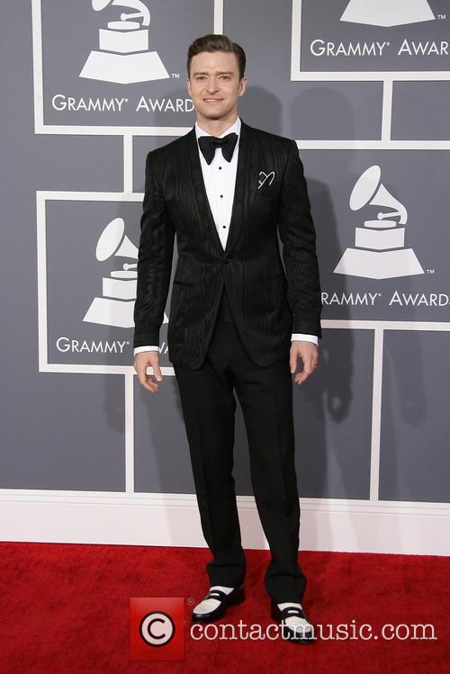 Justin Timberlake at the 2013 Grammys