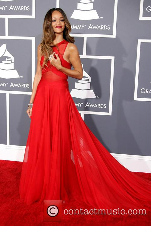 Red On Red - Rihanna Stuns at the Grammys