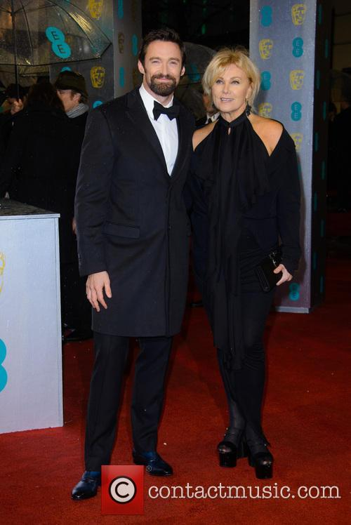 Hugh Jackman, Deborra-Lee Furness, British Academy Film Awards
