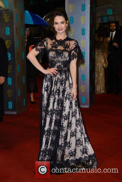 Lily James, British Academy Film Awards
