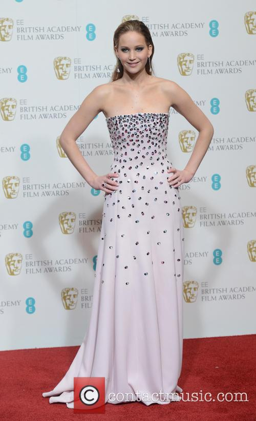 Jennifer Lawrence, BAFTAs dress, 2013