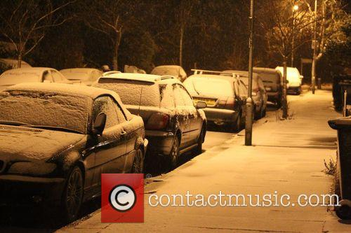 Snowfall in Northwest London