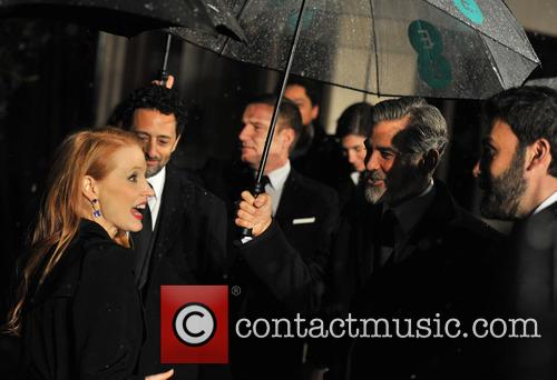 George Clooney, Ben Affleck and Jessica Chastain 3