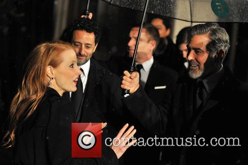 George Clooney and Jessica Chastain 3