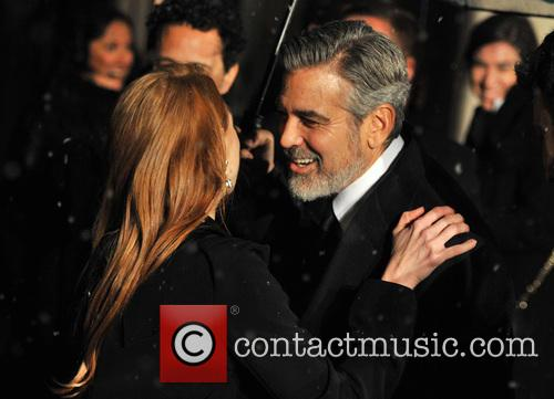 George Clooney and Jessica Chastain 4