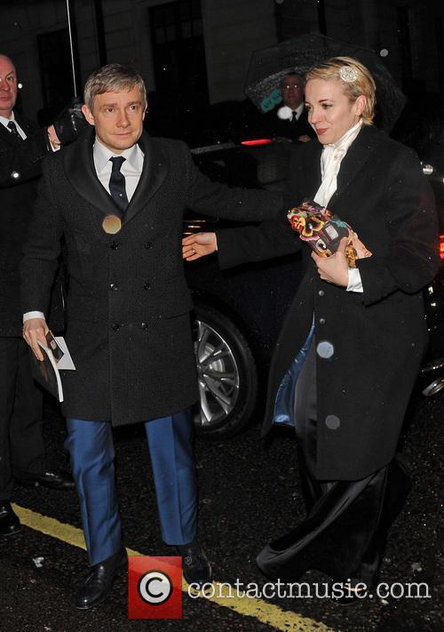 Martin Freeman and Amanda Abbington 1