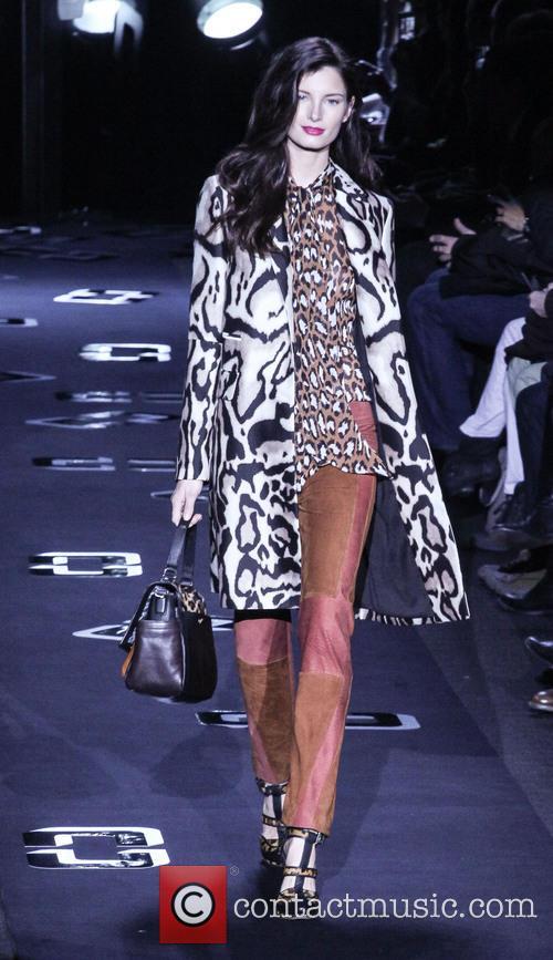 Diane Von Furstenberg and Model 7