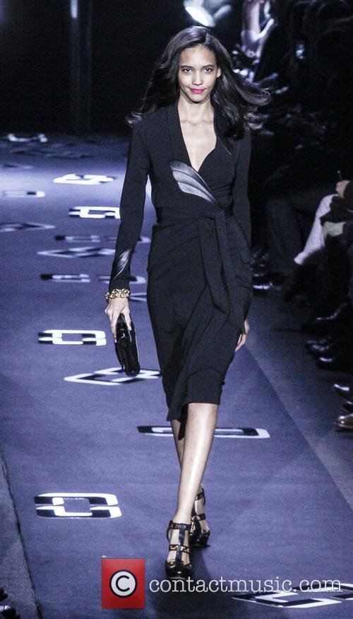 Diane Von Furstenberg and Model 10