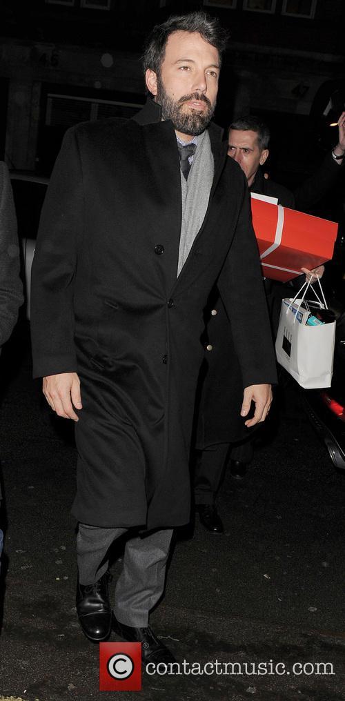 Ben Affleck arriving at his Hotel
