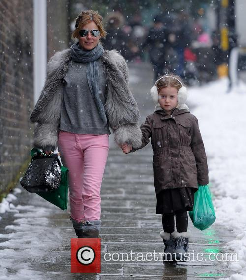 Geri Halliwell out and about with daughter Bluebell