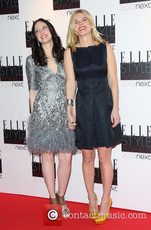 Andrea Riseborough and Alice Eve 2