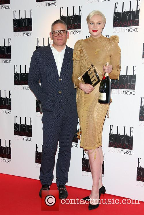 Giles Deacon and Gwendoline Christie 2