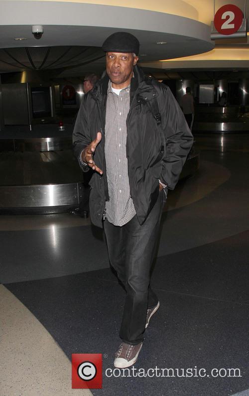 Julius Erving arriving at LAX
