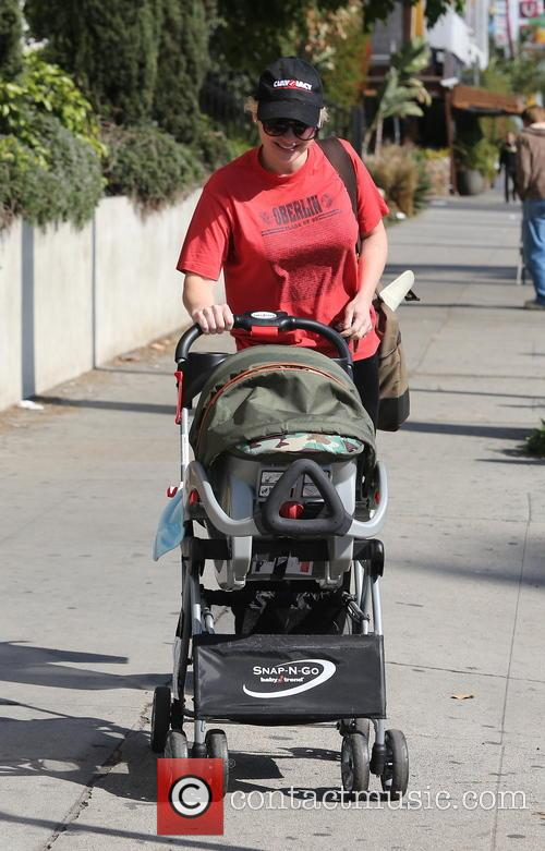 Anna Faris seen with her son in West...