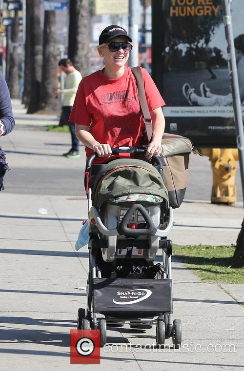 Anna Faris seen with her son in West Hollywood