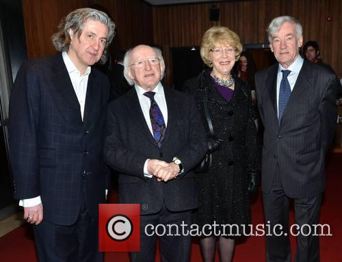 King Lear, Fiach Mac Conghail, Michael D Higgins, Sabina Coyle and Bryan Mcmah 6