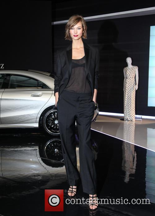 Karlie Kloss attends the unveiling of the Fall 2013 Mercedes-Benz Fashion Collaboration