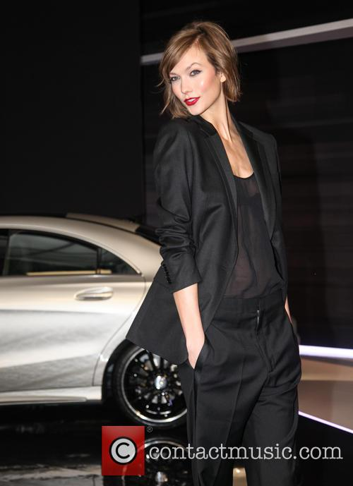 Karlie Kloss attends the unveiling of the Fall...