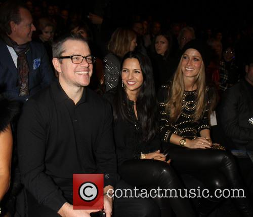 Matt Damon, Luciana Barroso, New York Fashion Week