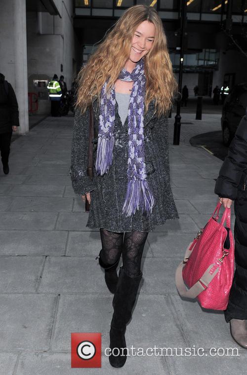 Celebrities are seen leaving Radio 1 BBC Studios