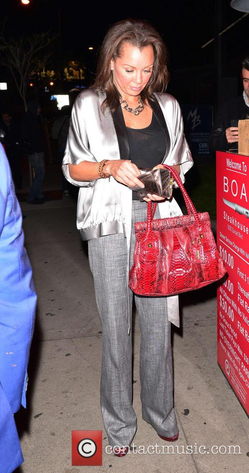Celebrities outside BOA Steakhouse in West Hollywood