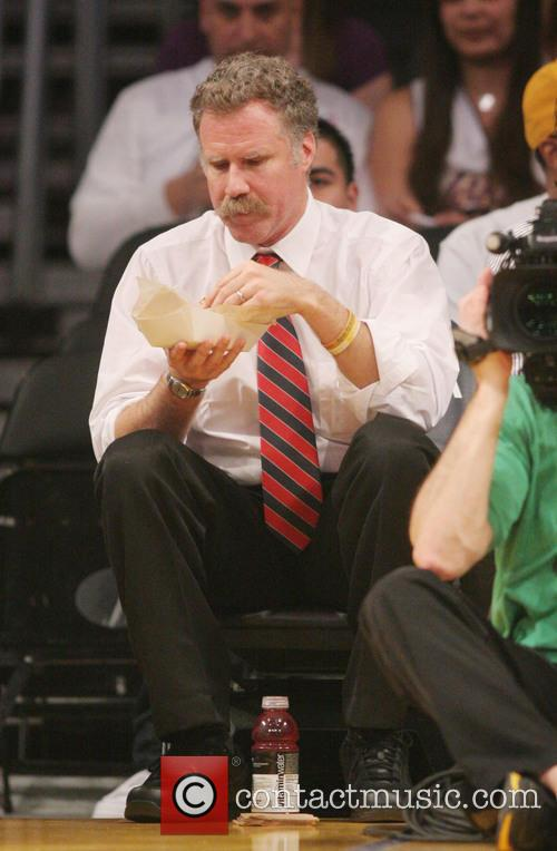 Will Ferrell at the Lakers