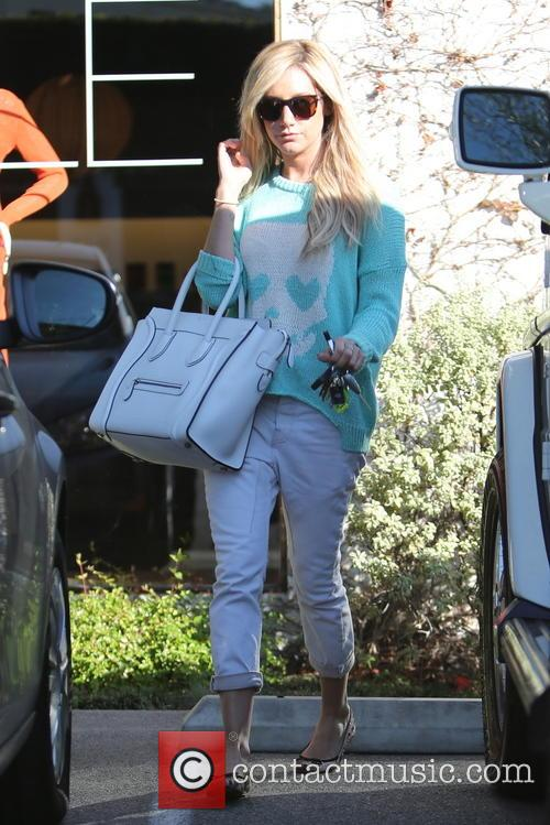 Ashley Tisdale seen leaving Andy LeCompte salon