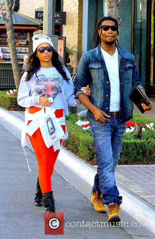 Ciara and her boyfriend go shopping at the...