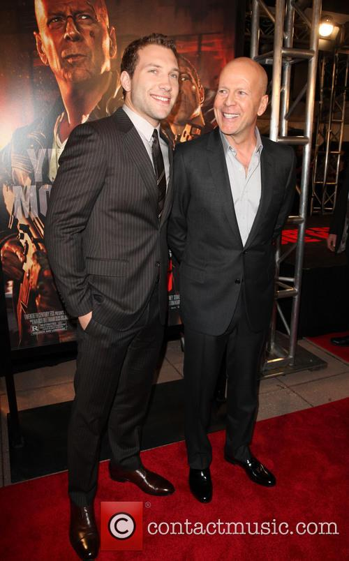 Jai Courtney and Bruce Willis 2