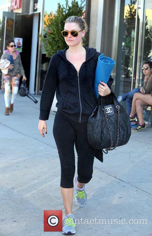 Ali Larter seen leaving her Yoga class