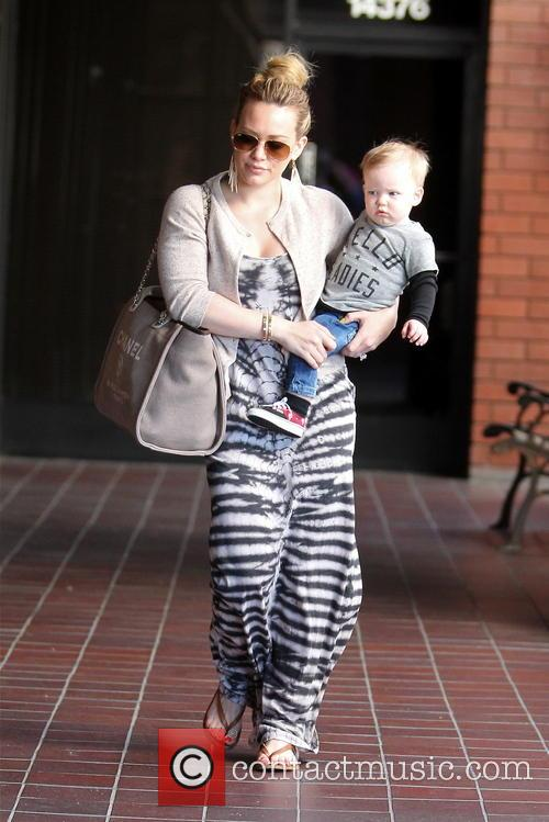 Hilary Duff and son Luca head out for...
