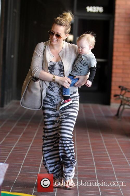 Hilary Duff and son Luca head out for a playdate