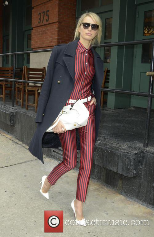 Model Karolina Kurkova seen out and about