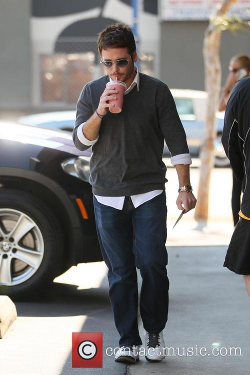 Kevin Connolly is seen out getting a juice...
