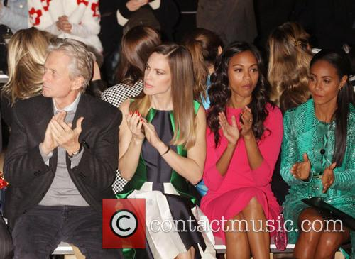 Zoe Saldana, Jada Pinkett Smith, Michael Douglas, Hilary Swank, New York Fashion Week