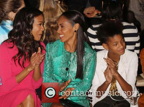 Zoe Saldana, Jada Pinkett Smith and Willow Smith 6