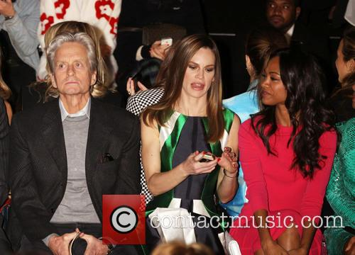 Zoe Saldana, Michael Douglas and Hilary Swank 4