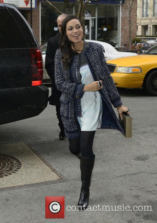 Rosario Dawson seen out and about