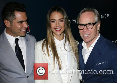 Cash Warren, Jessica Alba and Tommy Hilfiger 2